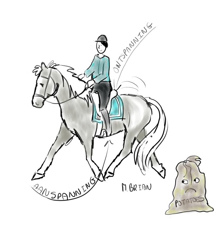 paard buigt moeilijk naar rechts